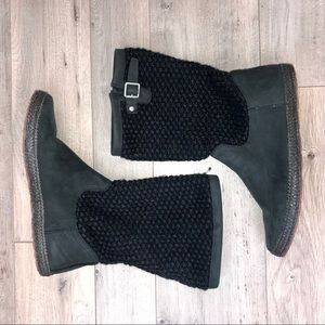 UGG Women's Black Knit Boots